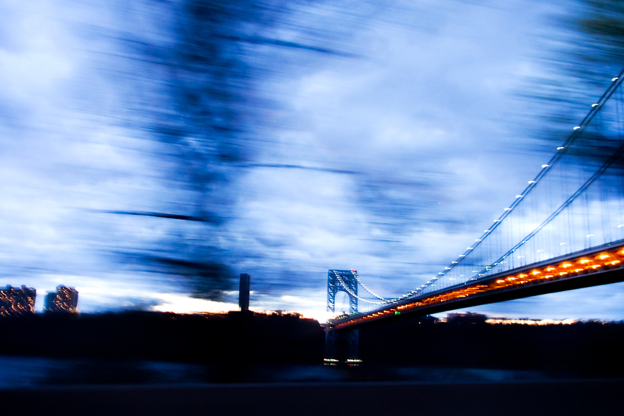 BLUE HOUR, GW BRIDGE, NEW YORK by Carine
