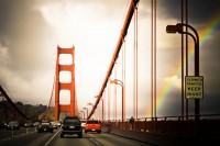shooting+driving=dangerous, Golden Gate Bridge