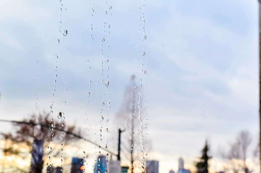RAIN DROPS, NYC by Carine